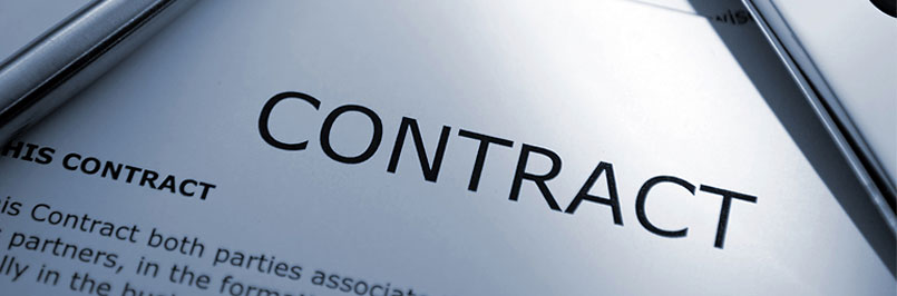 legal contract banner